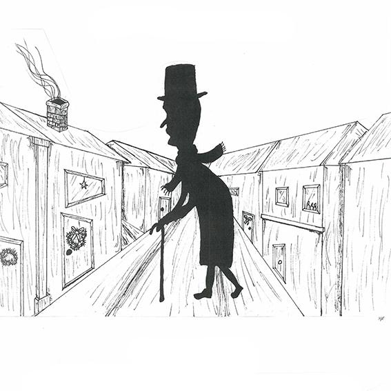 8. trinn presenterer A Christmas Carol av Charles Dickens